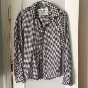 Frank & Eileen brown gingham blouse